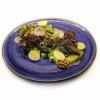 Теплый салат с печенью Garden resto bar