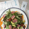 Салат с тунцом в кимчи - соусе Рыбное Место