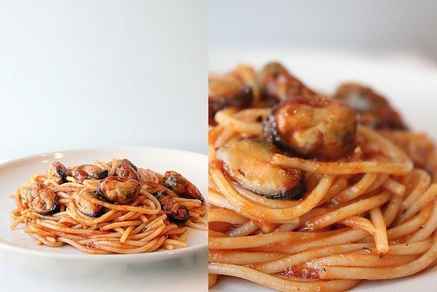 Спагетти с мидиями в томатном соусе Fiesta