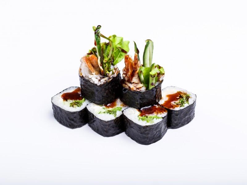 Ролл с тигровой креветкой в кляре и крем сыром Sushi-Ushi