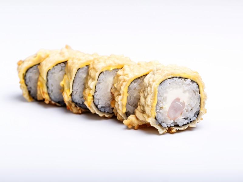 Теплый ролл с тигр креветкой Sushi-Ushi